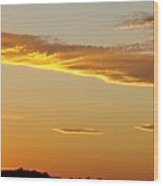 Yellow Sky Three Wood Print