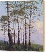 Yellow Stone Sunset Wood Print