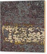 Yellow Stripe 1 Wood Print