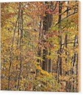 Yellow Study Wood Print