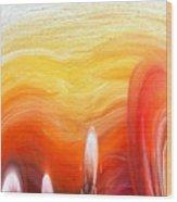 Yellow Sunlight Abstract Art Wood Print