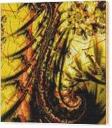Yellow Symbol Design Wood Print
