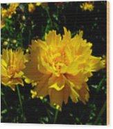 Yellow Symphony Wood Print