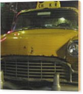 Yellow Taxi Wood Print