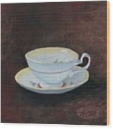 Yellow Teacup Wood Print