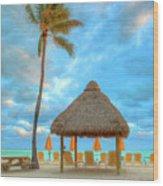 Yellow Tiki Wood Print