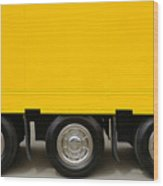 Yellow Truck Wood Print