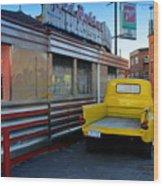 Yellow Truck Wood Print