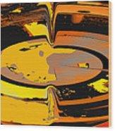 Yellow Vortex Wood Print