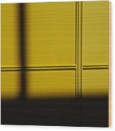 Yellow Wall Wood Print