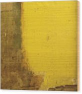 Yellow Wall Wood Print