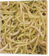 Yellow Wax Beans Wood Print