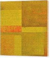 Yellow With Orange Wood Print
