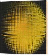 Yellow Word  Wood Print
