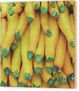 Yellow Zucchini Wood Print