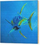 Yellowfin Tuna Three Wood Print