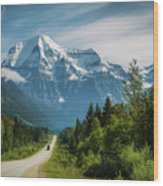 Yellowhead Highway In Mt. Robson Provincial Park, Canada Wood Print