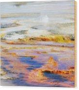 Yellowstone Abstract II Wood Print