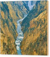 Yellowstone Canyon Wood Print