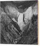 Yellowstone Falls II Wood Print