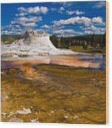 Yellowstone Geyser Wood Print