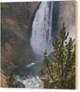 Yellowstone Grand Canyon Falls Wood Print
