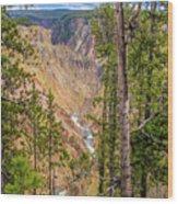 Yellowstone Grand Canyon  Wood Print