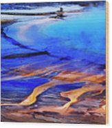 Yellowstone Grand Prismatic Spring Geothermal Water Wood Print
