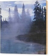 Yellowstone Haze Wood Print
