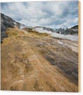 Yellowstone Hot Springs Wood Print
