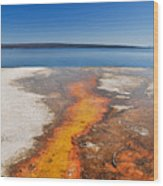 Yellowstone Lake And West Thumb Geyser Flow Wood Print