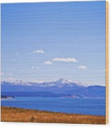 Yellowstone Lake Wood Print by Brent Parks