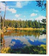 Yellowstone Lake In Summer Wood Print
