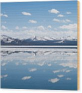 Yellowstone Lake Reflection Wood Print