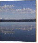Yellowstone Lake Reflection-signed-no Bird Wood Print