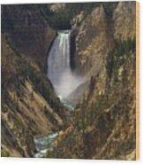 Yellowstone Lower Falls Wood Print