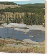 Yellowstone Mineral Ponds Wood Print