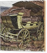 Yellowstone Park Stage Coach With Horses Pa 01 Wood Print