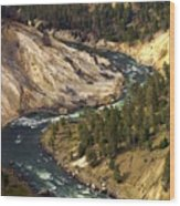 Yellowstone River Canyon Wood Print