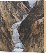 Yellowstone River Falls Wood Print