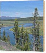 Yellowstone River Panarama Wood Print