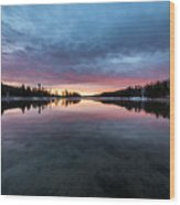 Yellowstone River Sunrise Colors Wood Print
