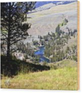 Yellowstone River Vista Wood Print