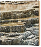Yellowstone Rock Formation Wood Print