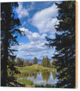 Yellowstone Sky Wood Print