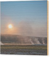Yellowstone Sunrise  Wood Print