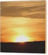 Yellowstone Sunset Wood Print