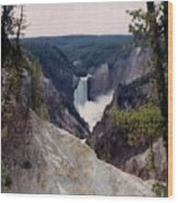 Yellowstone Water Fall Wood Print
