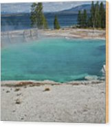 Yellowstone Water Pool Wood Print by Brent Parks
