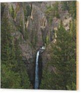 Yellowstone Waterfall Wood Print